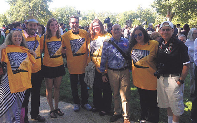 Members of Temple Emanu-El joined the NAACP America's Journey for Justice march this past fall from Selma, Ala., to Washington.