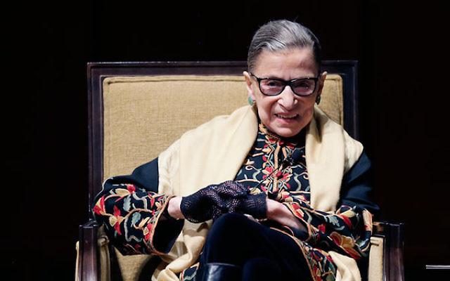Ruth Bader Ginsburg at the University of Michigan in Ann Arbor, Feb. 6, 2015.