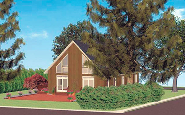 A rendering of the finished Shabbat House building.
