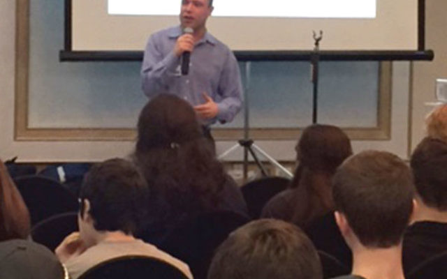 Paul Friedman of StandWithUs addressed students at last year's program sponsored by Temple Beth Ahm and the Marlboro Jewish Center. Those attending the Jan. 15 program will learn how to defend Israel against the BDS movement.