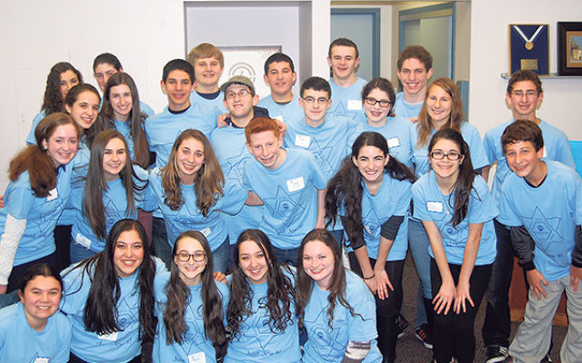 Teen volunteers joined in making calls on Super Sunday last January.