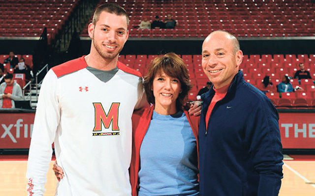 GOA alumni Jacob Susskind, shown with his parents Shari-Beth and Jeff, made the Maryland Terrapins as a walk-on in 2011.