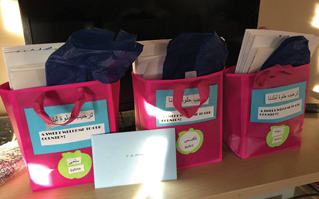 Welcome bags for each of the three children.