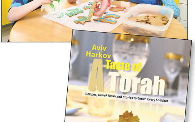 Author Aviv Harkov relies on some rookie sous chef assistance.