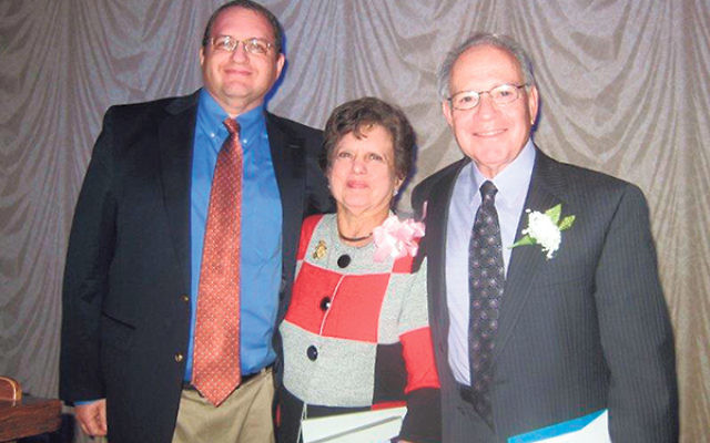 Dorothy Thompson was the honoree at a Greenbriar at Whittingham federation event several years ago; with her are her husband, Dr. Edward Thompson, and son, Dr. Stephen Thompson.