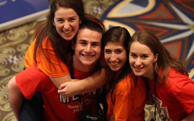 At United Synagogue Youth's 2014 convention, being held in Atlanta on Dec. 21-25 , the board voted to relax the youth organization's ban on interfaith dating. (Courtesy of United Synagogue Youth)