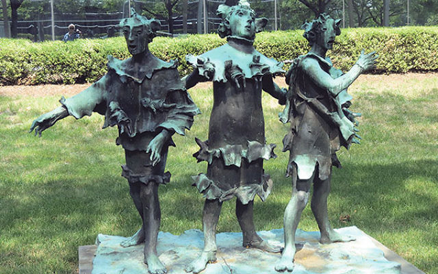 The Three Singers — a bronze sculpture by David Aronson that stands outside the entrance to the Jewish Federation of Greater MetroWest NJ in Whippany — was a gift to the federation from Sidney Weinstein and his late wife, Ethel Blanck