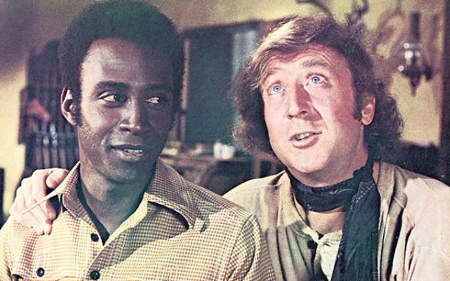 Gene Wilder, right, in a scene with Cleavon Little from Blazing Saddles.
