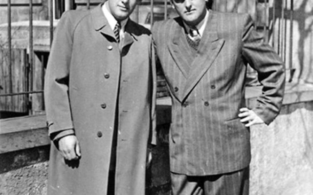 Brothers Joe, left, and Harry Wilf, soon after they arrived in the United States.