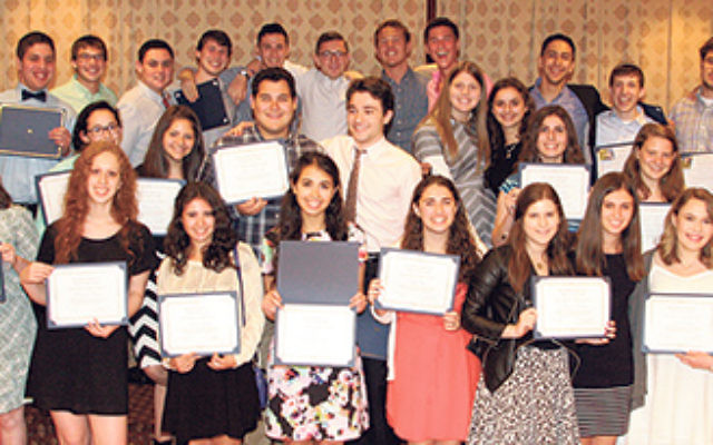 The Write On For Israel class of 2015 at their graduation ceremony.