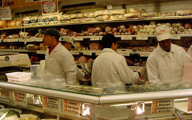 Employees working in Zabar's meat department (Wikimedia Commons)