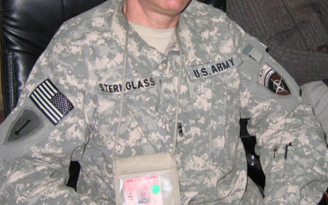 Warrant Officer 2nd Class Adam Sternglass, who is stationed in Afghanistan, was briefly posted to the NATO seat at the Afghan Police Headquarters.
