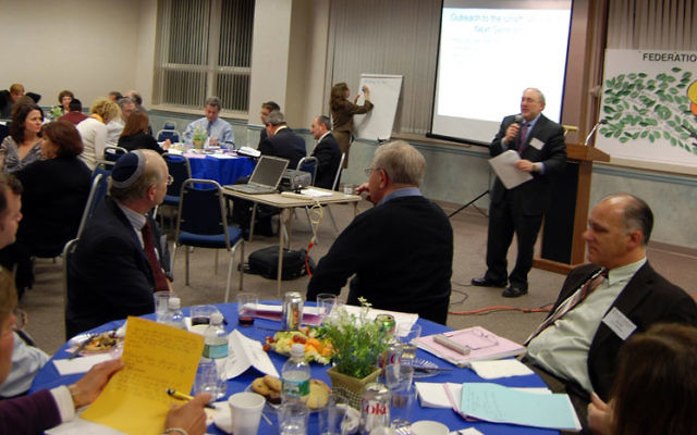 Led by Eric Levine, participants exchange ideas during the Jan. 19 leadership retreat hosted by the Central federation.