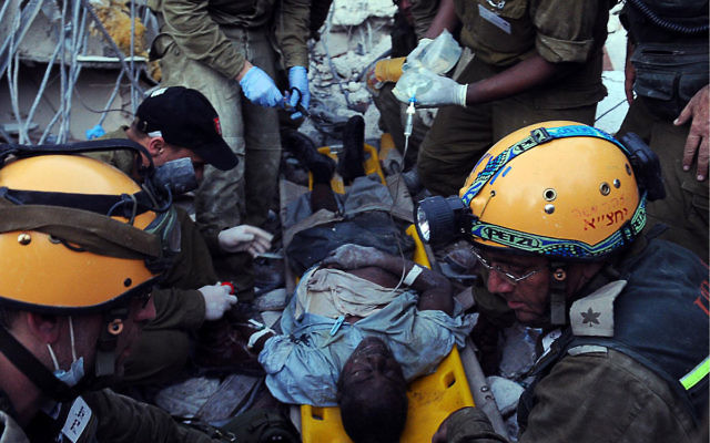 The Israel Defense Forces' medical and rescue team in Port-au-Prince rescued a Haitian government worker on Jan. 16, who was trapped for 90 hours in the city's ruined customs office.