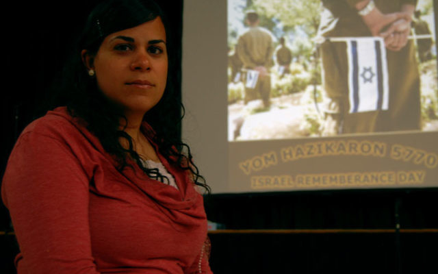 Israeli emissary Yisca Shalev will show a video tribute to Israel's fallen at the Yom Hazikaron commemoration on April 18. Photos by Elaine Durbach