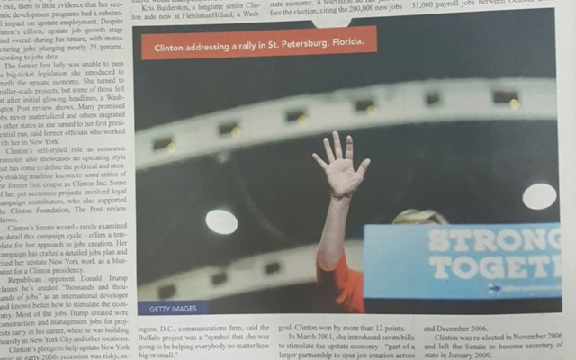 This picture of Hillary Clinton — sort of — appeared in a haredi Orthodox newspaper.