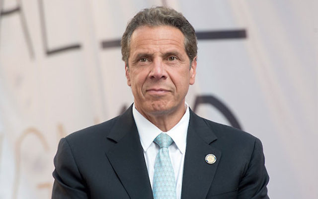 New York Gov. Andrew Cuomo signed an anti-BDS executive order on June 5, 2016. (Mike Pont/WireImage/Getty Images)
