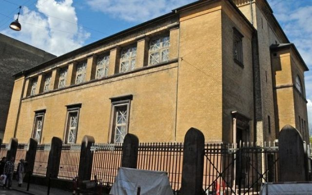 Copenhagen's main synagogue, where a guard was shot and killed early Feb. 15, 2015. (Wikimedia Commons)