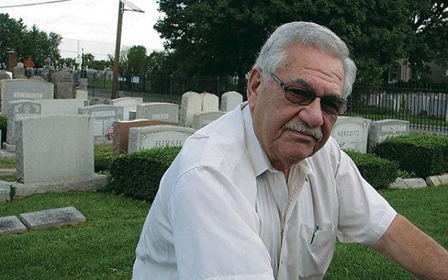 Sanford Epstein at a Newark cemetery in 2012.