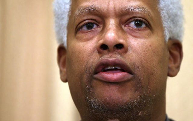 Rep. Hank Johnson speaking during a news conference in Washington, D.C., Jan. 16, 2013. (Alex Wong/Getty Images)