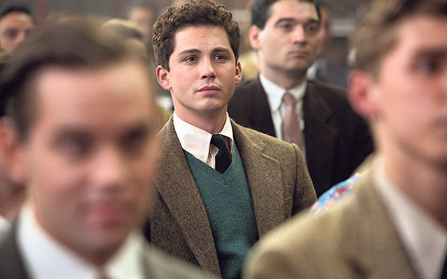 Logan Lerman in a scene from Indignation, a film adaptation of the Philip Roth novel.
