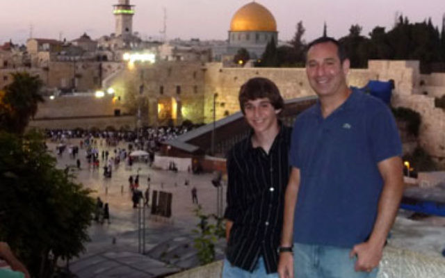 Daniel and Michael Klausner during their recent visit to Israel.