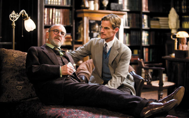Martin Rayner, left, and Mark H. Dodd portray Sigmund Freud and C.S. Lewis, respectively, in Freud's Last Session. Photo courtesy FreudsLastSession.com