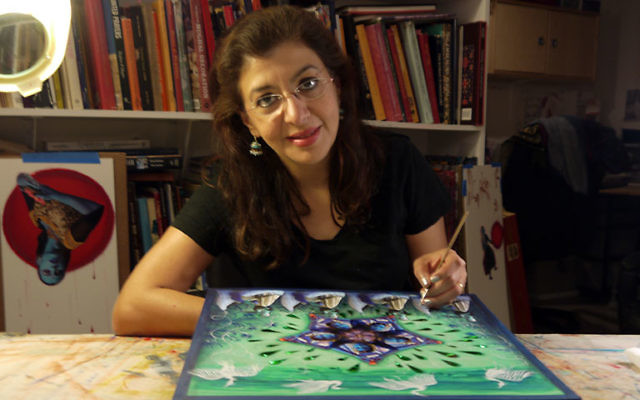 Benjamin incorporates her Indian background in her work as a Jewish artist. Photo by Johanna Ginsberg