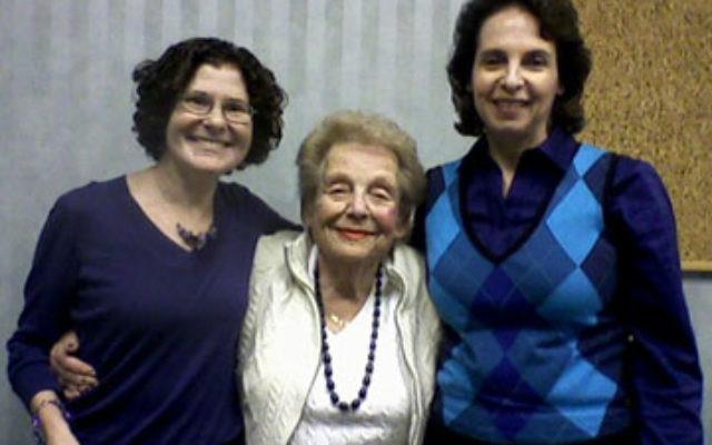 With Greenbriar resident Susan Hacker, center, are NORC program coordinator Jillellen Herzog, left, and JF&CS employee Wendy Zagha.