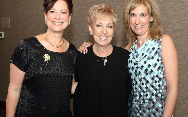At the 2009 Main Event are honoree Beth Krinsky of Manalapan, right, and chairs Robin Parness Lipson, left, and Dawn Barofsky. Photo courtesy Jewish Federation of Monmouth County