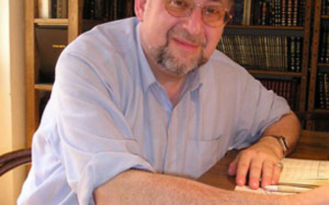 """Rabbi Ron Hoffberg in his office in Prague; he said the Masorti movement is """"an appealing approach to Judaism for modern young European Jews."""""""