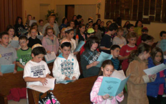Students at the Rabbi Jacob Friedman Religious School, which has brought together children from both Temple Beth Torah and Temple Beth El.
