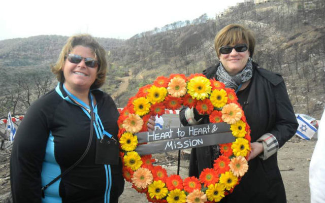 Amy Greenspan, left, accompanied Grutman on last month's Heart To Heart National Women's Philanthropy Mission to Israel.