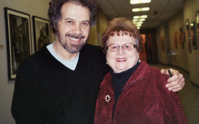 Helen Terris with Edward Zwick at the premiere of Defiance at the Museum of Jewish Heritage in New York, January 2009.