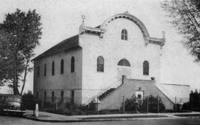 First synagogue of Congregation Agudath Achim, built 1911-16 at First and Center streets. Photos courtesy Freehold Jewish Center