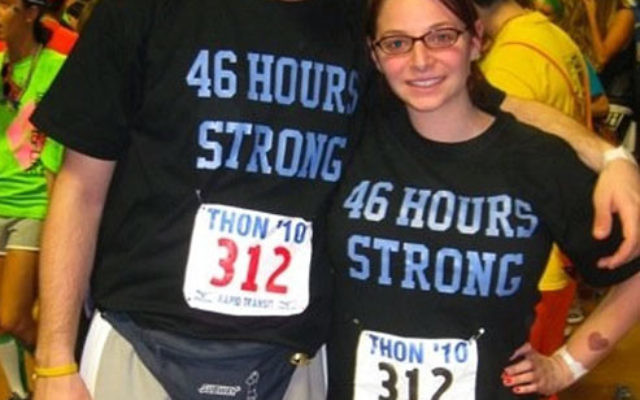Penn State students Jason Forman and Samantha Wolff, along with 698 others, danced nonstop for 46 hours to help raise funds to fight cancer.