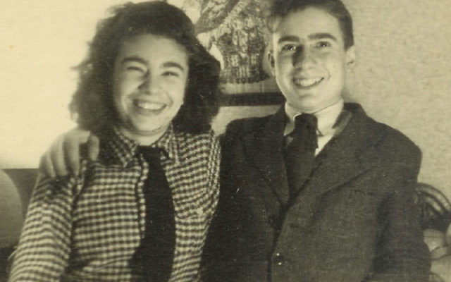 Arlette deMonceau Michaelis and her brother, Guy, before he was taken to St. Guilles Prison, in January 1942.