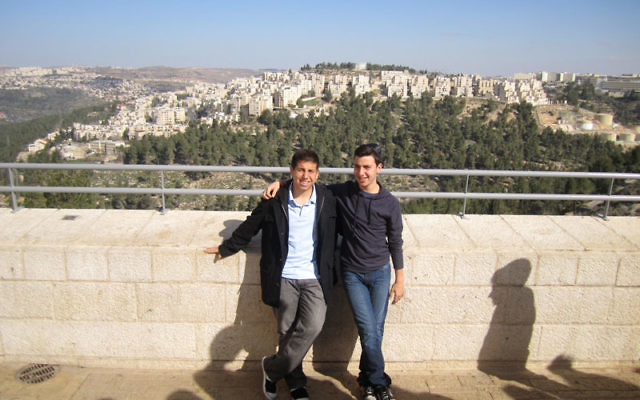 Write On participants Mitchell Parker, left, and Ovadia Harary in Jerusalem.
