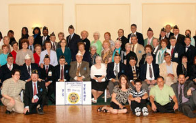 All those people attending the 75th anniversary celebration of Jewish War Veterans Post 125 gathered for a portrait.