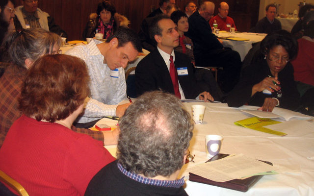 About 50 people came to a workshop for the unemployed at Oheb Shalom Congregation in South Orange on Jan. 7.