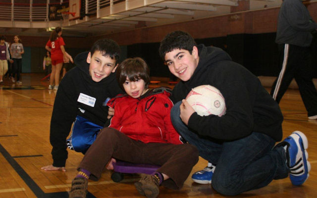 The Friendship Circle piloted a Saturday night out for families with special-needs children last December, one of the programs included in the grant it received to expand its Family Support Circle. Enjoying activities at Gold's Gym on the Aidekman c
