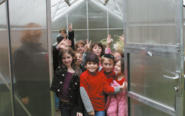 Through the Day School Endowment project, all three area day schools have been able to enrich their science curricula. The Bohrer-Kaufman Hebrew Academy of Morris County added a greenhouse to its Randolph campus. Photo courtesy Hebrew Academy of Morris