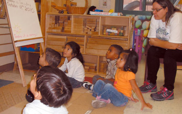 Children at the Collinsville Child Care Center, located at the Brody Center on the Aidekman campus in Whippany, enjoy morning activities.