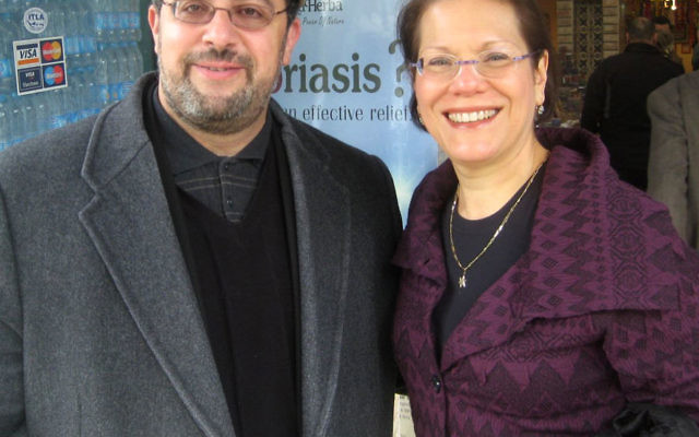 Rabbi Amy Small with Imam Yahya Hendi, the Muslim chaplain at Georgetown University and founder of the interfaith Clergy Without Borders.