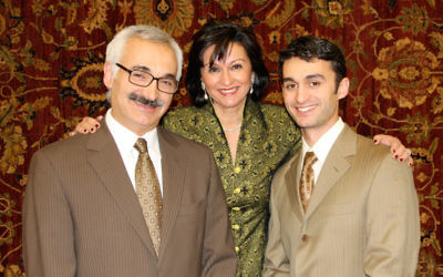 Sima and Javid Hakakian with their son, Jonathan, who works part time with them. Photos courtesy J&S Designer Flooring