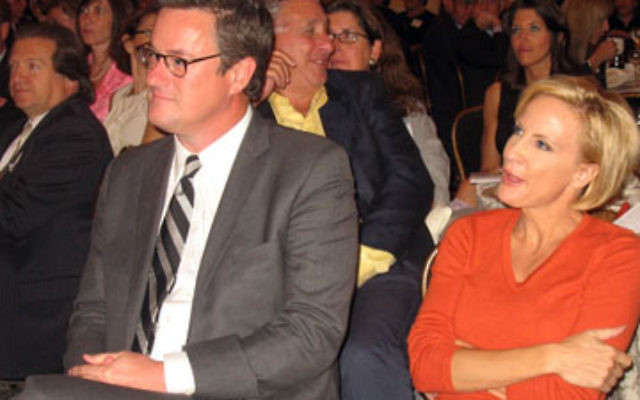 Joe Scarborough, talk-show host and former congressman, with Mika Brzezinski, his cohost on the Joe Scarborough Show, at this year's United Jewish Communities of MetroWest NJ's Major Gifts dinner, where he served as keynote speaker.