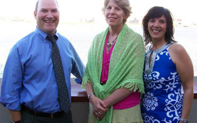 Members of the award-winning UJC MetroWest marketing team, from left, Mark Berkley, Shelley Labiner, and Melissa Simon.