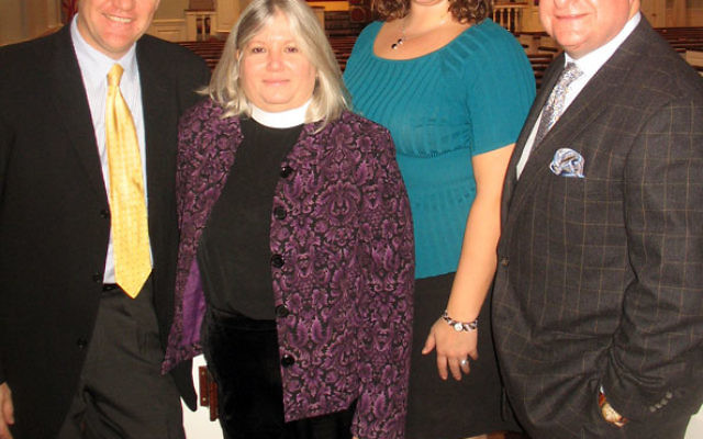 Members of the Millburn-Short Hills Clergy Association planning its first Interfaith Holocaust Remembrance Service include, from left, the Rev. Dr. Johann Bosman of Community Congregational Church, the Rev. Lisa Green of Christ Church, the Rev. Jennifer