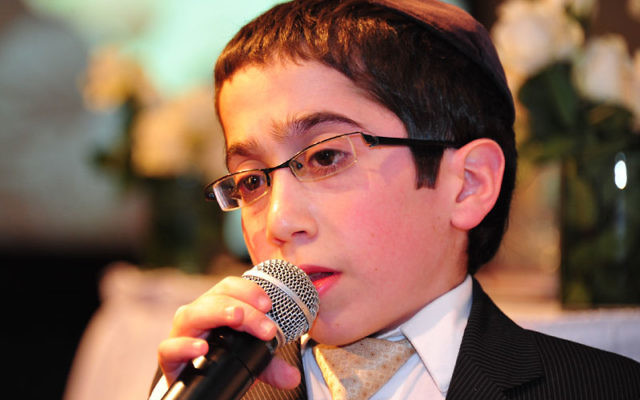 Shmuly Brafman, 13, is the only New Jerseyan among the 55 kids entered in the junior division of the Jewish Star competition. Photo by Michael Livshin