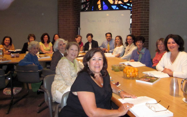Florence Melton Adult Mini-School students gather for a recent class at Congregation B'nai Jeshurun in Short Hills; the new Melton curriculum will be geared toward families.